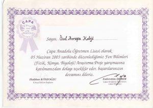 ÇAPA AND ÖĞRETMEN LİSESİ