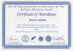 INTERATIONAL CONFERENCE OF THE BALKAN PHYSICAL UNION