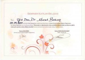 SEMİNER KATILIM BELGESİ