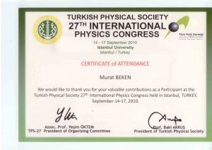 TURKİSH PHYSICAL SOCIETY.