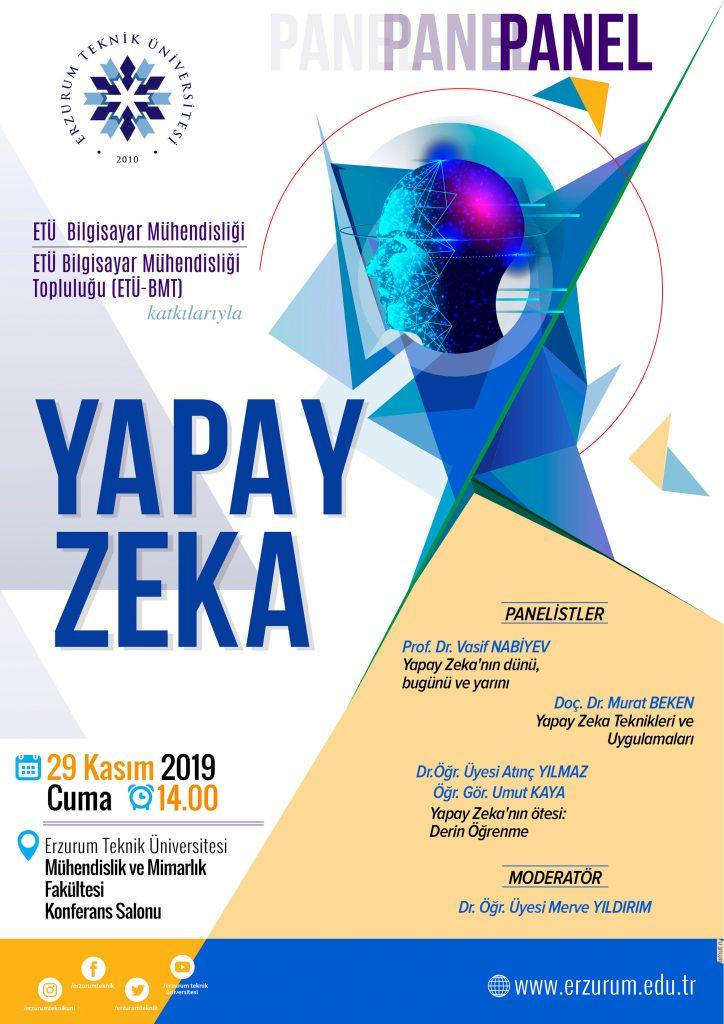 """Doç. Dr. Murat BEKEN; Erzurum Teknik Üniversitesinin ev sahipliğini yapmış olduğu """"YAPAY ZEKA"""" adlı panel de """" Afet Yönetimi, Acil Durum Yönetimi ve İş Güvenliği : Bütüncül Anlayışı Yerleştirme"""" panelinde """" Yapay Zeka Teknikleri ve Uygulamaları"""" konusu ile panelist olarak yer almıştır."""